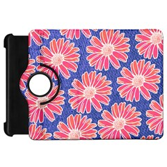 Pink Daisy Pattern Kindle Fire HD Flip 360 Case