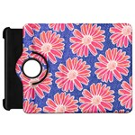Pink Daisy Pattern Kindle Fire HD Flip 360 Case Front