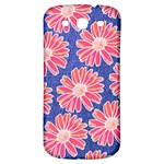 Pink Daisy Pattern Samsung Galaxy S3 S III Classic Hardshell Back Case Front