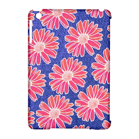 Pink Daisy Pattern Apple iPad Mini Hardshell Case (Compatible with Smart Cover)