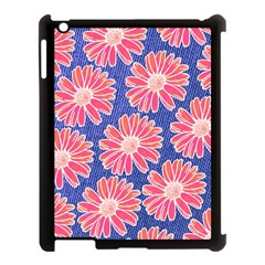 Pink Daisy Pattern Apple iPad 3/4 Case (Black)