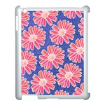 Pink Daisy Pattern Apple iPad 3/4 Case (White) Front