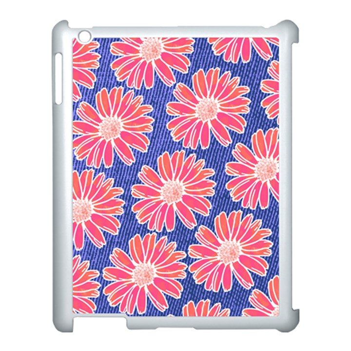 Pink Daisy Pattern Apple iPad 3/4 Case (White)