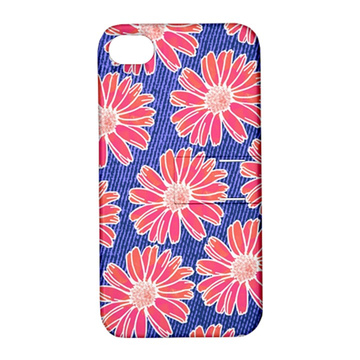 Pink Daisy Pattern Apple iPhone 4/4S Hardshell Case with Stand