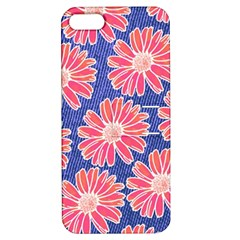 Pink Daisy Pattern Apple iPhone 5 Hardshell Case with Stand