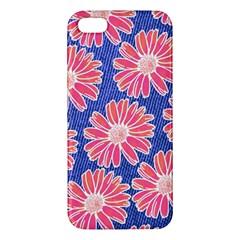 Pink Daisy Pattern Apple iPhone 5 Premium Hardshell Case