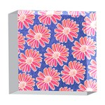 Pink Daisy Pattern 5  x 5  Acrylic Photo Blocks Front