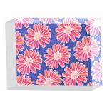 Pink Daisy Pattern 5 x 7  Acrylic Photo Blocks Front