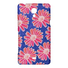 Pink Daisy Pattern Sony Xperia T