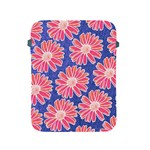 Pink Daisy Pattern Apple iPad 2/3/4 Protective Soft Cases Front