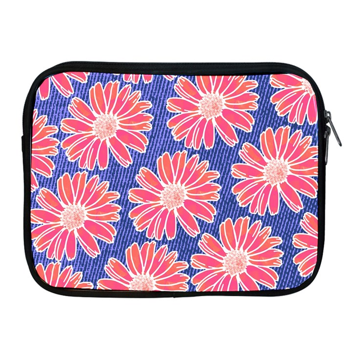 Pink Daisy Pattern Apple iPad 2/3/4 Zipper Cases