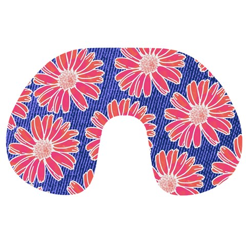 Pink Daisy Pattern Travel Neck Pillows