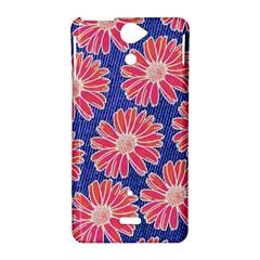 Pink Daisy Pattern Sony Xperia V