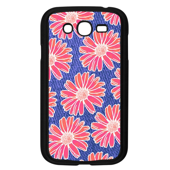 Pink Daisy Pattern Samsung Galaxy Grand DUOS I9082 Case (Black)