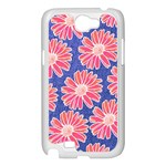 Pink Daisy Pattern Samsung Galaxy Note 2 Case (White) Front