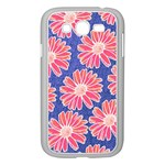 Pink Daisy Pattern Samsung Galaxy Grand DUOS I9082 Case (White) Front
