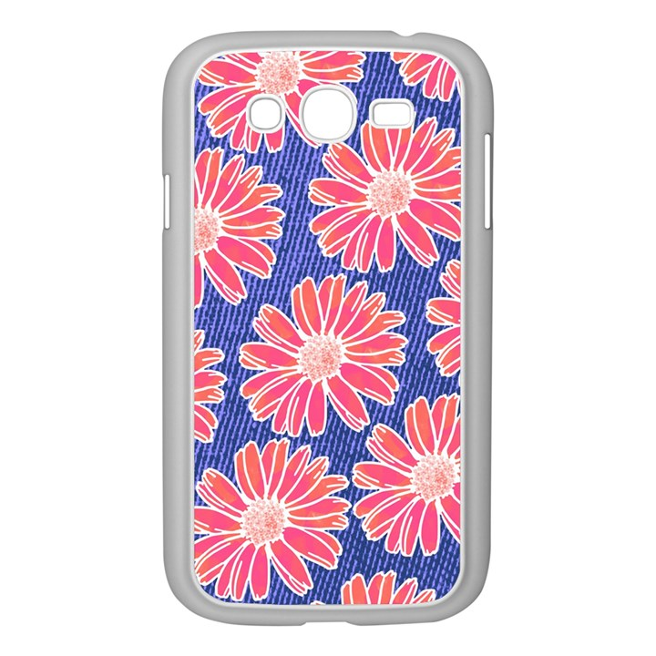 Pink Daisy Pattern Samsung Galaxy Grand DUOS I9082 Case (White)