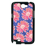 Pink Daisy Pattern Samsung Galaxy Note 2 Case (Black) Front