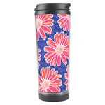 Pink Daisy Pattern Travel Tumbler Right