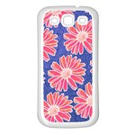 Pink Daisy Pattern Samsung Galaxy S3 Back Case (White) Front
