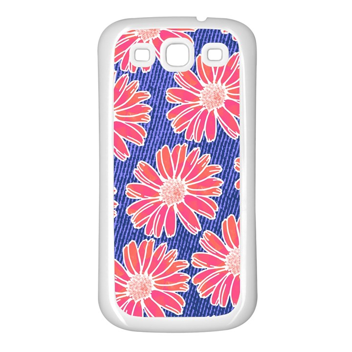 Pink Daisy Pattern Samsung Galaxy S3 Back Case (White)