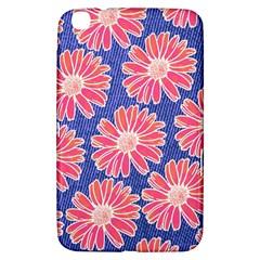 Pink Daisy Pattern Samsung Galaxy Tab 3 (8 ) T3100 Hardshell Case