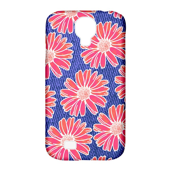 Pink Daisy Pattern Samsung Galaxy S4 Classic Hardshell Case (PC+Silicone)