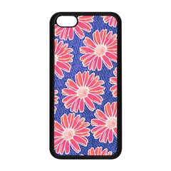 Pink Daisy Pattern Apple iPhone 5C Seamless Case (Black)