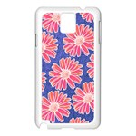 Pink Daisy Pattern Samsung Galaxy Note 3 N9005 Case (White) Front
