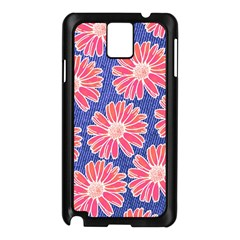 Pink Daisy Pattern Samsung Galaxy Note 3 N9005 Case (black)