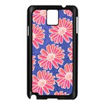 Pink Daisy Pattern Samsung Galaxy Note 3 N9005 Case (Black) Front