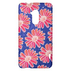 Pink Daisy Pattern HTC One Max (T6) Hardshell Case
