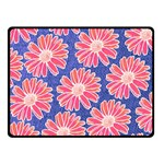 Pink Daisy Pattern Double Sided Fleece Blanket (Small)  50 x40 Blanket Front