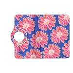Pink Daisy Pattern Kindle Fire HD (2013) Flip 360 Case Front