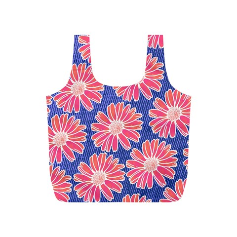Pink Daisy Pattern Full Print Recycle Bags (S)