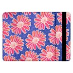 Pink Daisy Pattern Samsung Galaxy Tab Pro 12.2  Flip Case Front
