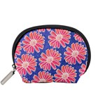 Pink Daisy Pattern Accessory Pouches (Small)  Front