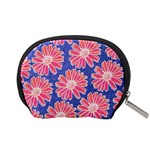 Pink Daisy Pattern Accessory Pouches (Small)  Back