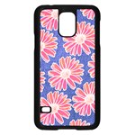 Pink Daisy Pattern Samsung Galaxy S5 Case (Black) Front