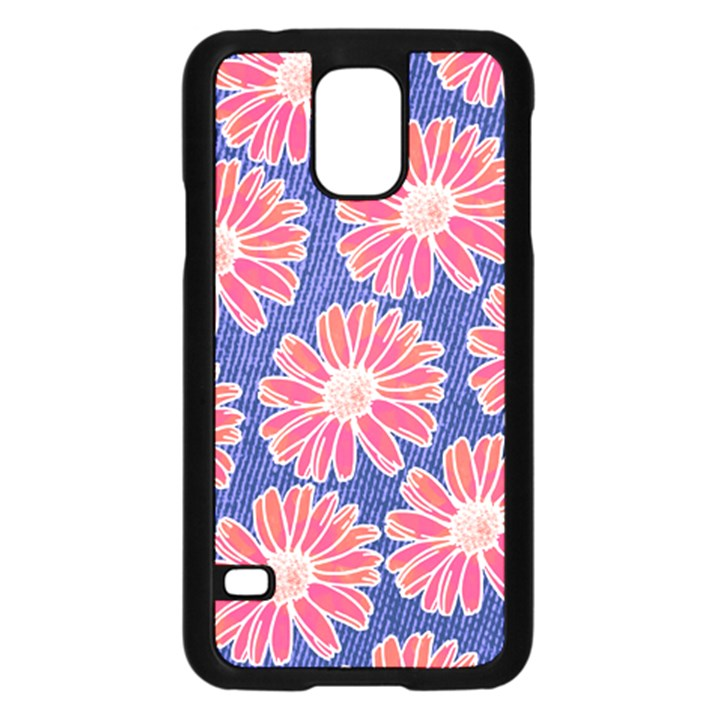 Pink Daisy Pattern Samsung Galaxy S5 Case (Black)