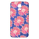 Pink Daisy Pattern Samsung Galaxy S5 Back Case (White) Front