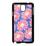 Pink Daisy Pattern Samsung Galaxy Note 3 Neo Hardshell Case (Black) Front