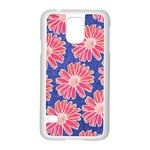 Pink Daisy Pattern Samsung Galaxy S5 Case (White) Front