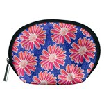 Pink Daisy Pattern Accessory Pouches (Medium)  Front