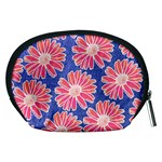 Pink Daisy Pattern Accessory Pouches (Medium)  Back
