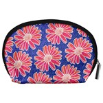 Pink Daisy Pattern Accessory Pouches (Large)  Back