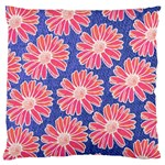 Pink Daisy Pattern Standard Flano Cushion Case (One Side) Front