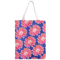Pink Daisy Pattern Classic Light Tote Bag