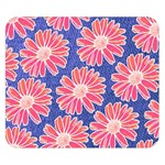 Pink Daisy Pattern Double Sided Flano Blanket (Small)  50 x40 Blanket Front