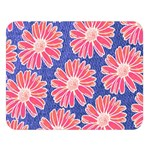 Pink Daisy Pattern Double Sided Flano Blanket (Large)  80 x60 Blanket Front